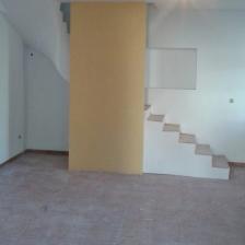 escadas em alvenaria forradas com degraus em madeira